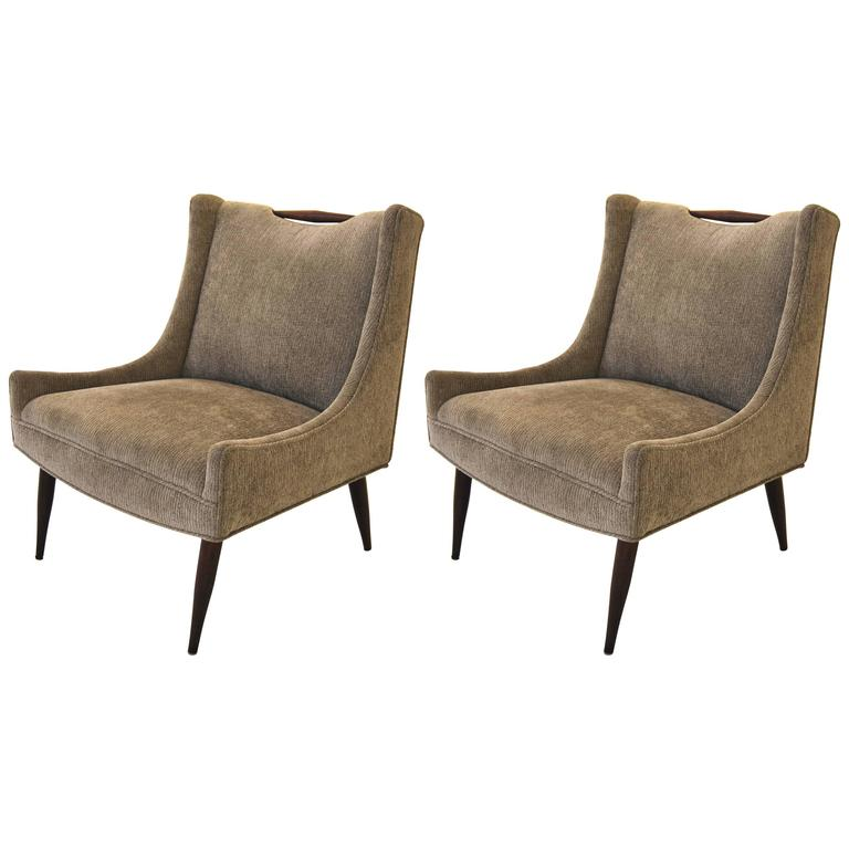 Pair of Harvey Probber Slipper Chairs For Sale