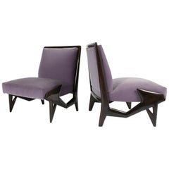 Important and Unique Ico Parisi Lounge Chairs, 1950