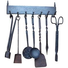 18th-19th Century Dutch Fireplace Tools