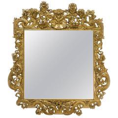 Espejo Palaciego Barroco Dorado Siglo XVIII