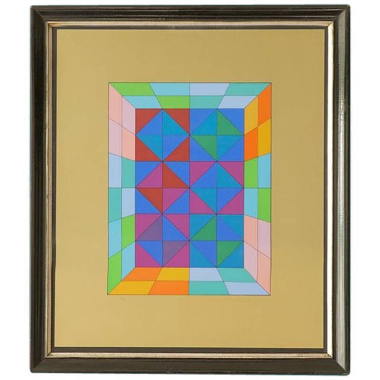 Vintage Victor Vasarely Silkscreen 1