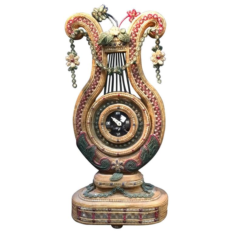 Amazing Beaded Glass Clock from the 20th Century
