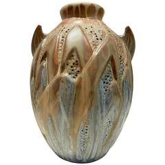 1940s Ceramic Vase by Roger Guerin