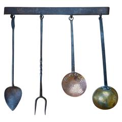 18th-19th Century Dutch Fireplace Tools 'Fire Tools'