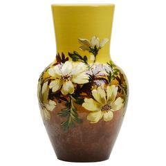 Arts & Crafts Large Burmantofts Faience Floral Vase, circa 1890