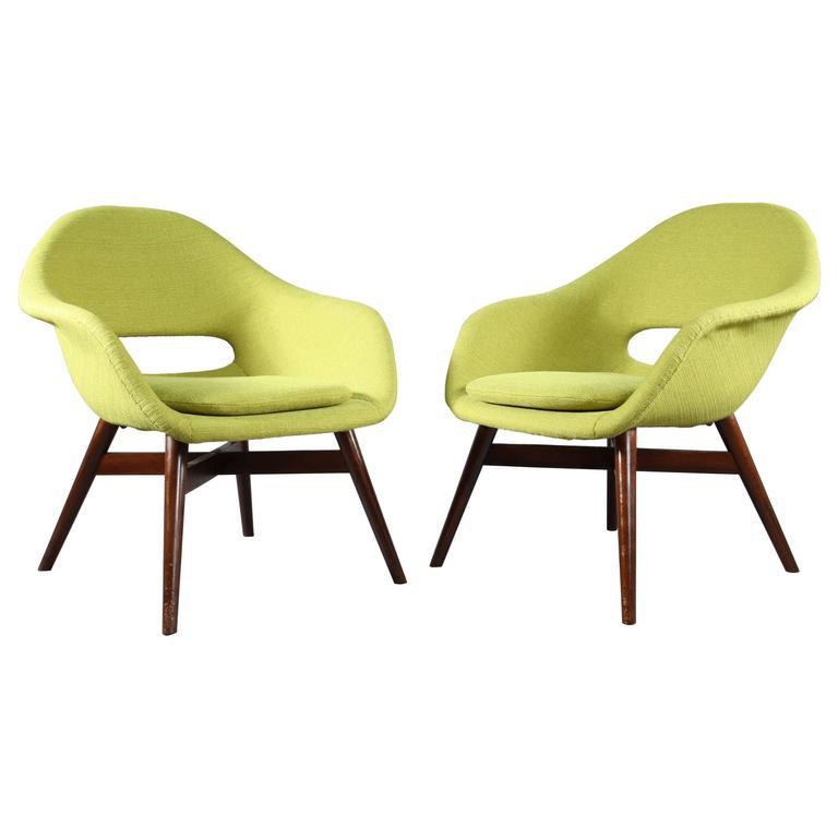 Charming Two Easy Chairs by Miroslav Navratil, circa 1960