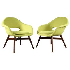 Charming Two Easy Chairs by Miroslav Navratil, circa 1960