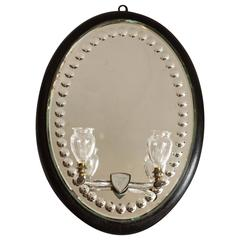Mid-19th Century Victorian Oval Mirror