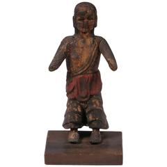 Antique Santos Figure with Stand