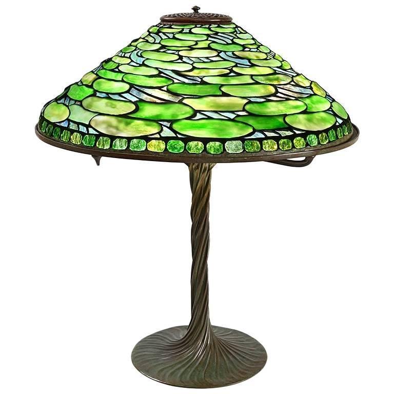 Tiffany Studios New York Lily Pad Table Lamp At 1stdibs