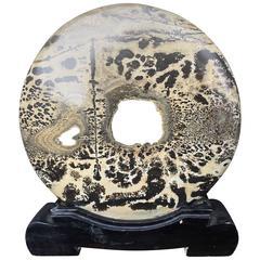 "Extraordinary Natural Viewing ""Moon Shape"" Stone"