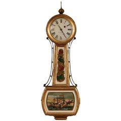 W. Goodwin Late Federal Banjo Clock