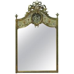 20th Century, French Trumeau Mirror