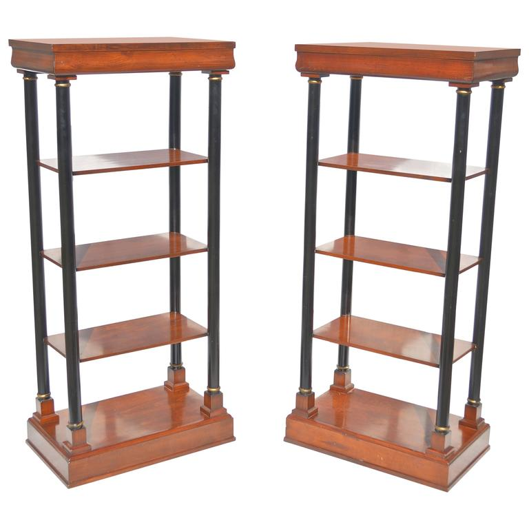 Neoclassical Etagere Pair 1