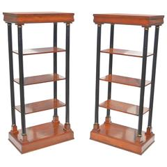Neoclassical Etagere Pair
