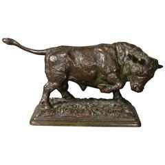 American Bronze Bull Signed by Edwin E. Codman