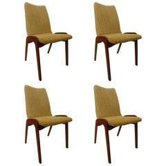 Mid-Century American Modern Set of Four Chet Beardsley Dining Chairs