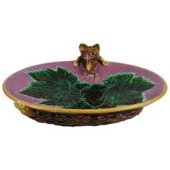 Majolica Fox Pink Server Dish George Jones, circa 1869