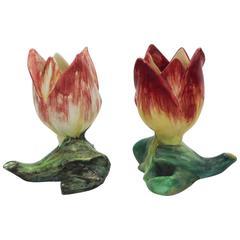 19th Century Majolica Tulip Vase Massier