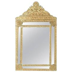 French Parclose Mirror in Brass