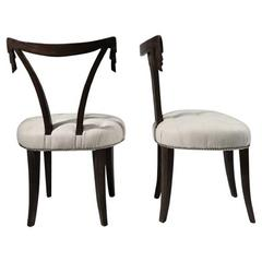 Pair of Grosfeld House Swag Back or Draped Occasional Chair, circa 1940s