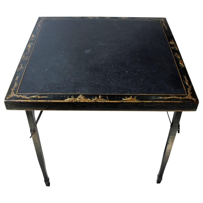 American Lacquered Chinoiserie Folding Card Table, Circa 1923 1