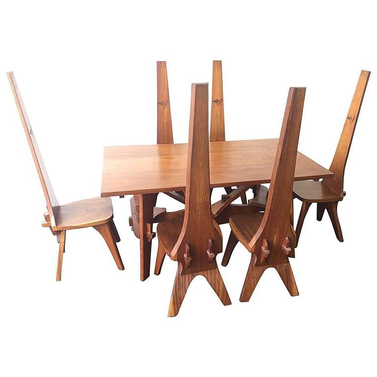 arts and crafts dining set at 1stdibs. Black Bedroom Furniture Sets. Home Design Ideas
