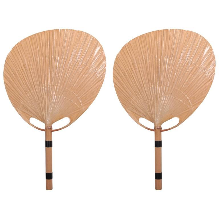 Wall Lamps Germany : Mint Pair of Uchiwa Wall Lamps by Ingo Maurer, Germany, 1970s at 1stdibs