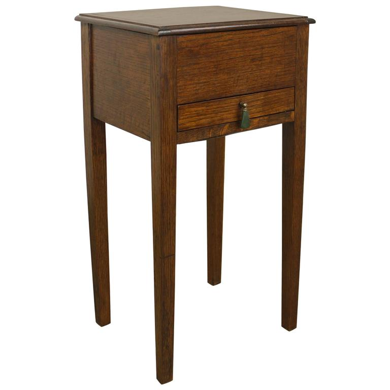 English arts and crafts sewing box side table at 1stdibs for Arts and crafts side table