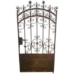 Decorative French Beaux Arts Wrought Iron Garden Gate