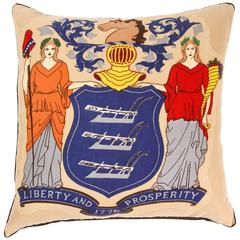 Custom Made Pillow from a Vintage Flag