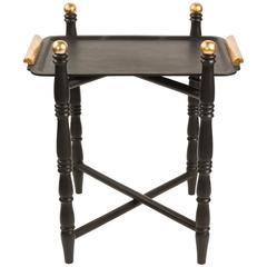 Vintage Folding Wood Tray Table