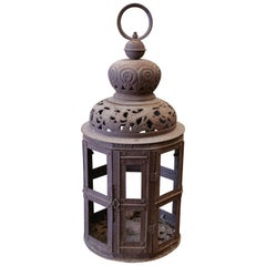 Decorative Pierced Metal Lantern