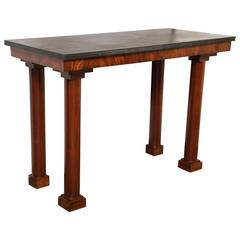 Mahogany Console with Black Marble-Top