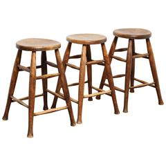 Set of Three Matching Kitchen Stools