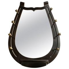 Unusual Horseshoe Mirror