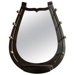 Unusual Horseshoe Mirror