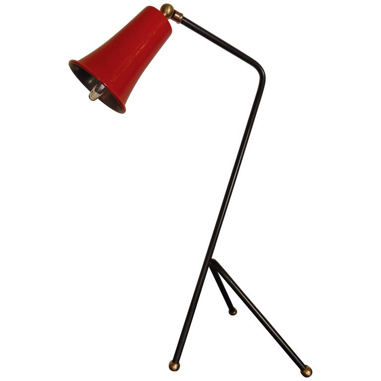 Vanguard Table Lamp 'Red and Black' by Lou Blass