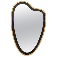 1950s Italian Brass Framed Mirror