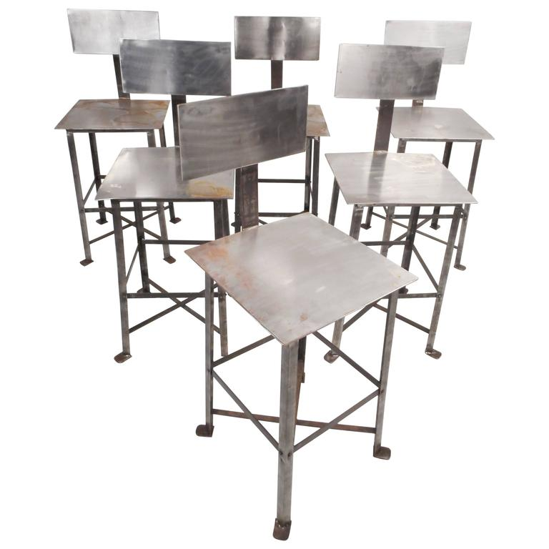 Industrial Modern Metal Bar Stool For Sale At 1stdibs
