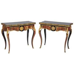 Pair of Ornate 19th Century Boulle Card Tables