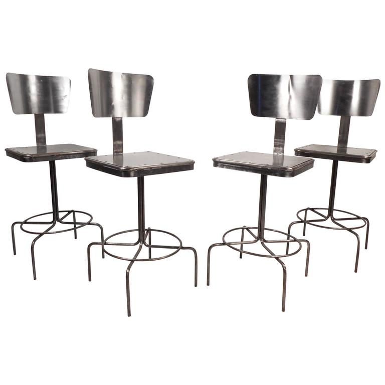 Vintage Industrial Metal Bar Stool For Sale At 1stdibs