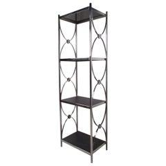 Contemporary Modern Decorative Chrome Etagere Display Shelf