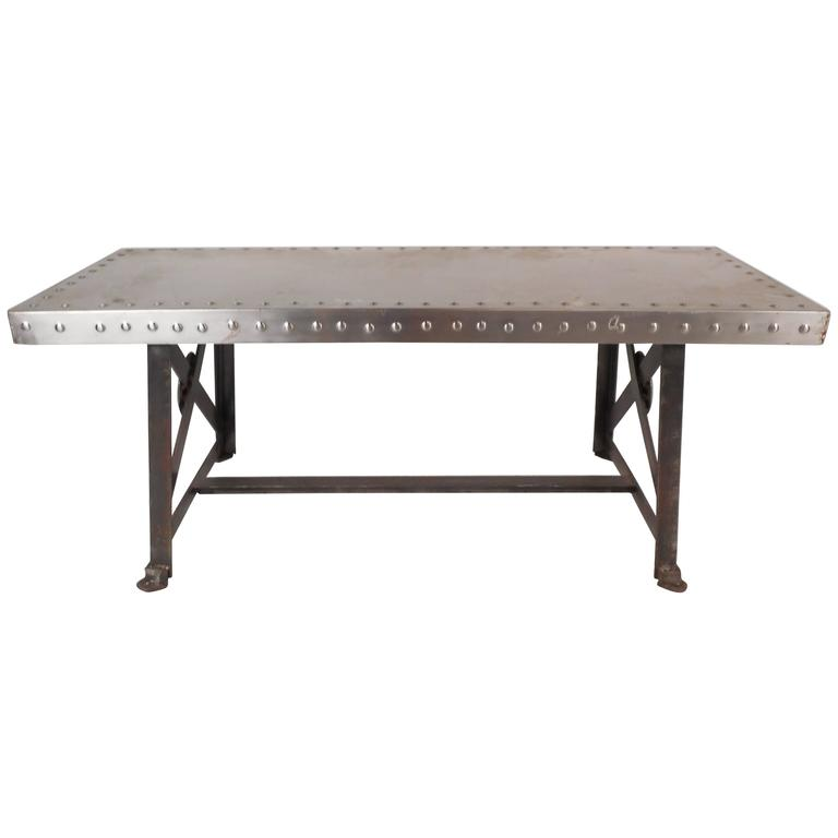 Vintage Industrial Metal Coffee Table