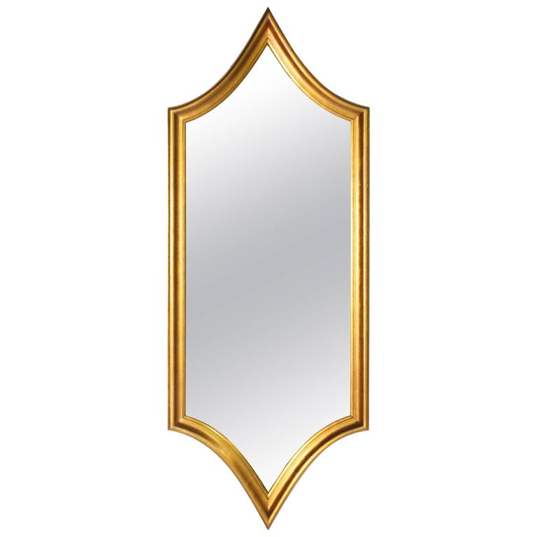 Hollywood Regency Gold Gilt Mirror 1
