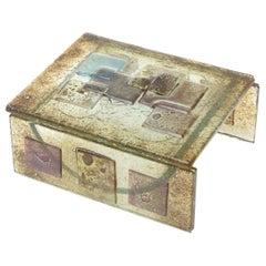 Fused Glass Higgins Style Sculptural Box Vintage