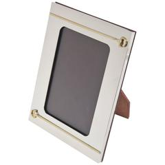 Italian Gucci Gold-Plated& Silver Plate Picture Frame/ Desk Accessory