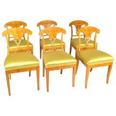 Fine Set of Six Biedermeier Side Chairs