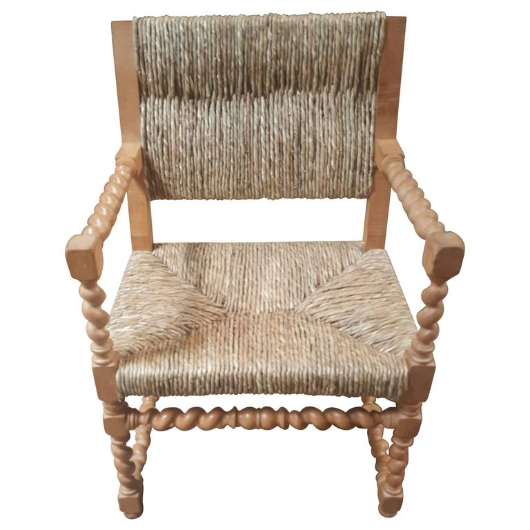 Vintage Spanish Rush Armchair 1