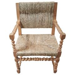 Vintage Spanish Rush Armchair